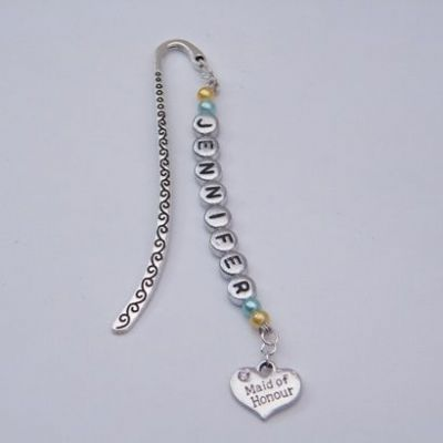 Maid Of Honour Personalised Bookmark